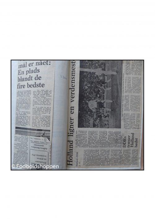 VM i fodbold 1974 udklip samlet i hæfte