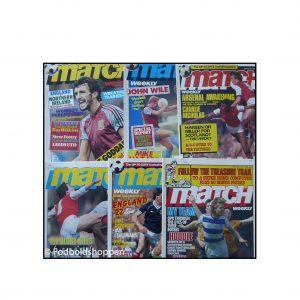 7 stk Match Fodboldblade fra start 80erne