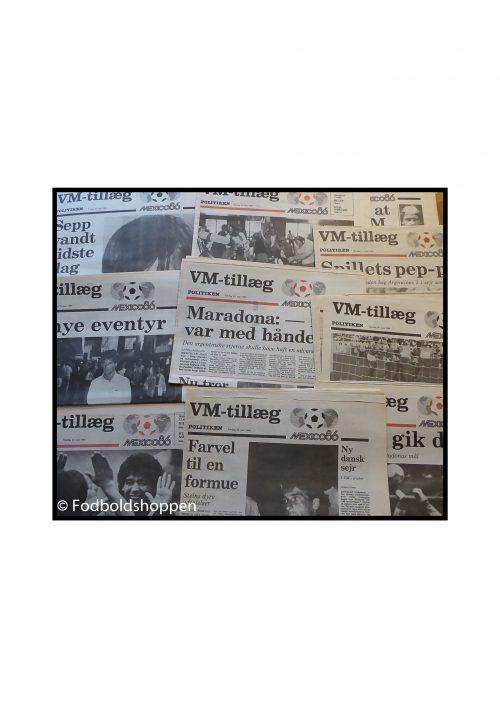 22 VM / sport aviser fra Politikken 1986