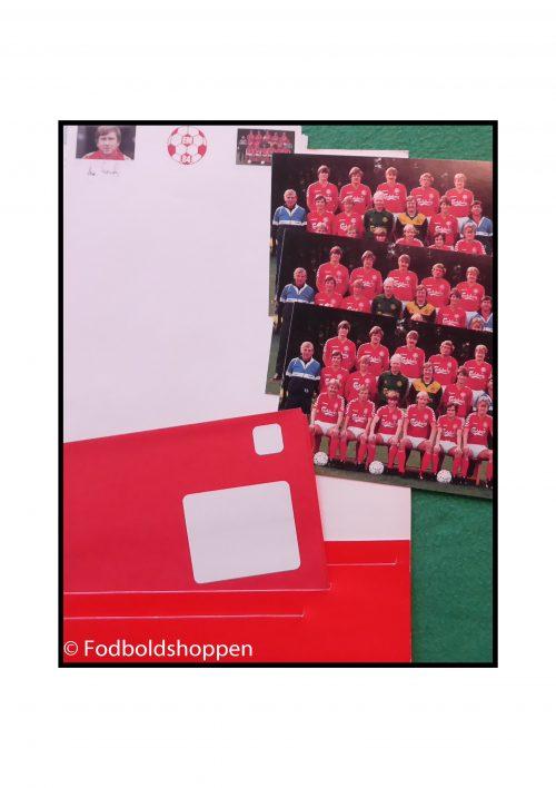 Lille postmappe fra EM 1984 - Det danske landshold