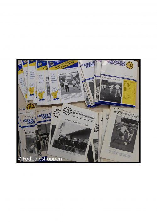 Samling af HFS medlemsblade. Cirka 40 stk