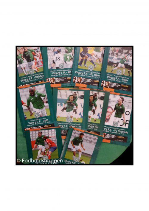 Viborg FF kampprogrammer 10 stk fra 2010/11